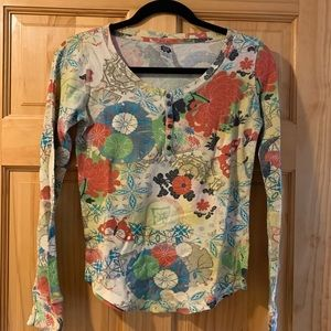 Vintage Lucky Brand Thermal Floral Top.